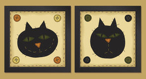 Two Little Cats stock illustration