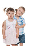 Two little children together Stock Images