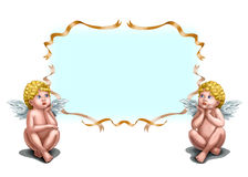 Two  little Cupid Stock Image