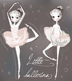 Two little cute ballerinas Stock Photo