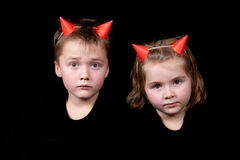 Two little devils Stock Photography
