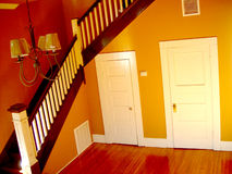 Two Little Doors. Two doors under a stairway Stock Photography