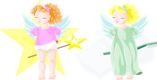 Two little fairies Stock Image