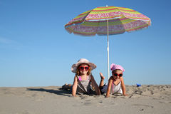 Two little girl Stock Photography