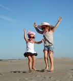 Two little girl fun Stock Photos