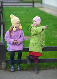 Two little girl Royalty Free Stock Images