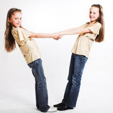 Two little girls Stock Images