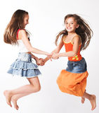 Two little girls royalty free stock image