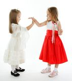 Two little girls Stock Photos