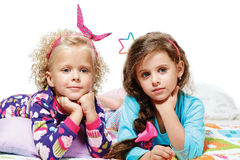 Two little girls - best friends Royalty Free Stock Photos