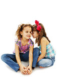 Two little girls are chatting Stock Images
