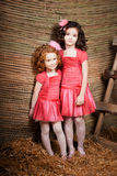Two little girls, cute kids Stock Images