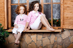 Two little girls, cute kids Stock Photography
