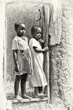 Two little girls from Ghana Stock Image