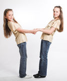 Two little girls having fun Stock Photography