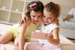 Two little girls at home. Stock Photography