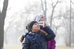 Two little girls play Stock Images