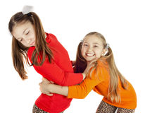 Two little girls played Stock Photography
