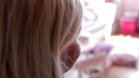 Two Little Girls Playing In Bedroom Together stock footage
