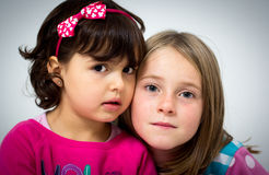 Two little girls Royalty Free Stock Images