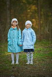 Two little girls sister Stock Photography