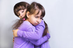 Two little girls sister twins Royalty Free Stock Photos