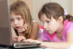 Children using computer Stock Images