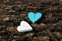 Two little hearts Stock Photography