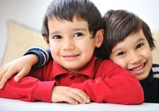 Two little kid boy Royalty Free Stock Photos