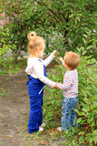 Two little lovely kids Royalty Free Stock Photos