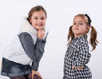 Two little models Royalty Free Stock Photo