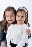 Two little models Royalty Free Stock Photography