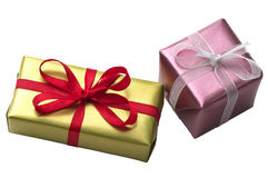 Two little present boxes Stock Image