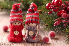 Two little santa Stock Images