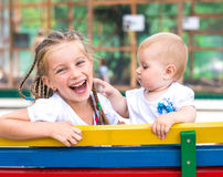 Two little sisters Royalty Free Stock Image