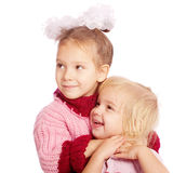 Two little sisters laugh Royalty Free Stock Photography