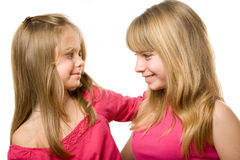 Two little sisters portrait Stock Photography