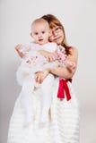 Two little sisters portrait. Stock Photos