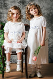 Two little sisters Stock Image