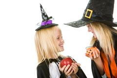 Two little witches Stock Photo