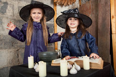 Two little witches Stock Photography