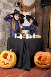 Two little witches Royalty Free Stock Photo