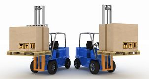 Two loaders with cargo Royalty Free Stock Image