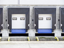 Two loading docks Royalty Free Stock Image