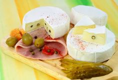 Two loaf of french cheese Camembert Stock Images