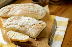 Two loafs of bread Stock Images