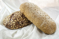 Two loafs of bread Royalty Free Stock Photos