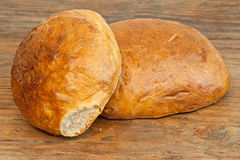 Two loaves of bread Royalty Free Stock Photography