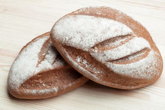 Two loaves of bread Royalty Free Stock Images