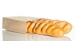 Two loaves in a brown paper bag Stock Image